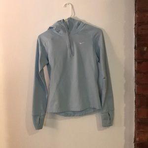Light blue nike dryfit pullover small